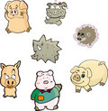Free Pig Set One Stock Images - 10119344