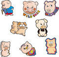 Free Pig Set Six Royalty Free Stock Photos - 10119368