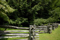 Free Split Rail Fence And Pines Stock Photography - 1094042