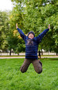 Free Jumping Teenager Royalty Free Stock Photo - 11023075