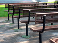 Free Row Of Park Benches Royalty Free Stock Photos - 1188928