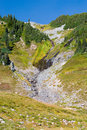 Free Waterfall Of Glacier Melt Along The Hiking Trail Of Mt. Rainier Stock Image - 1239531