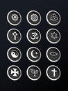 Free Religion Metallic Icon Royalty Free Stock Photos - 12986258