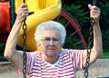 Free Swinging Grandmother 8 Royalty Free Stock Image - 1301776