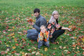 Free Autumn Family Sit Royalty Free Stock Photography - 1306917