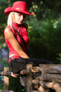 Free Sexy Blonde Cowgirl Stock Photography - 1316022