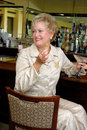 Free Mature Woman At Bar Stock Photo - 1344660
