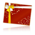 Free Gift Card With Floral Decorations Stock Photos - 13615723