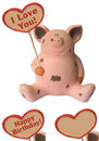 Free Funny Pig With Heart Stock Photo - 1376320
