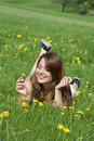 Free Young Woman With Flowers Stock Photo - 14028430