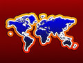 Free Continents On A Red Background Stock Photo - 14186860