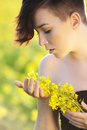 Free Girl With Flowers. Stock Image - 14423061
