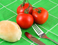 Free Red Tomatoes On Green Cloth Stock Photos - 1458863