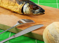 Free Smoked Fish On Cutting Board Stock Images - 1458884