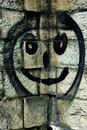 Free Smiley Face On A Stone Wall Royalty Free Stock Photo - 1509005
