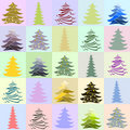 Free Childish Christmas Trees Stock Photography - 15642552
