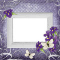 Free Vintage Frame With Irises Royalty Free Stock Photography - 15677877