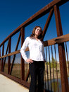 Free Woman On A Bridge Stock Image - 1579401