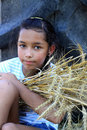 Free Young Gypsy Girl On A Grain Field Royalty Free Stock Photography - 16006457