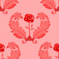 Free Seamless Floral Pattern Red Stock Images - 16067644