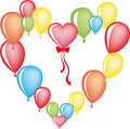 Free Heart From Balloons Royalty Free Stock Photos - 16394248