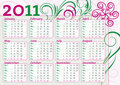 Free Calendar With Classic Flower Decoration Stock Images - 16435464