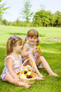 Free Preschool Sisters In Garden Royalty Free Stock Photos - 16453348