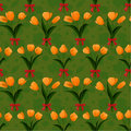 Free Tulip Bunch  Red Bow Seamless Royalty Free Stock Images - 16543529