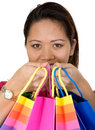 Free Asian Girl With Shopping Bags Stock Photos - 1676143