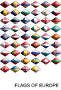 Free Flags Of Europe, Countries, Nations, Colours Royalty Free Stock Image - 17072826