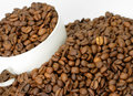 Free Coffee Beans In A Cup Royalty Free Stock Image - 1739926