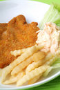 Free Chicken Chop With Chips Stock Image - 17393341