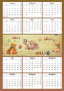 Free 2011 Childish Calendar Stock Images - 17432854