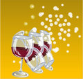 Free Wine In Glass Royalty Free Stock Photos - 17570638