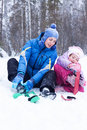 Free Happy Mother And Daughter In A Winter Park Stock Photography - 17606182
