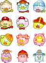Free Cute Icon Chinese Pig Royalty Free Stock Image - 17650646