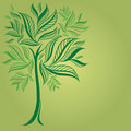 Free Design With Decorative Tree From Leafs Stock Photography - 17772502