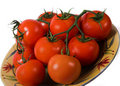 Free Tomatoes On A Plate Royalty Free Stock Image - 1793546