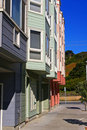Free Colorful Row Of Modern Apartment Buildings Stock Images - 1794064