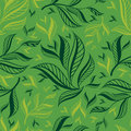 Free Seamless Green Floral Pattern With Leafs Stock Photography - 18369372