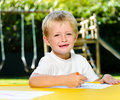 Free Crayon Boy Royalty Free Stock Photography - 18402697