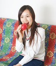 Free Woman Eating An Apple Stock Photo - 18518060