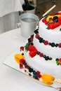 Free Fresh Wedding Fruitcake Royalty Free Stock Image - 18851996