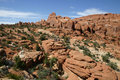 Free Hikers In Fiery Furnace - Arches National Park Stock Photography - 1927312