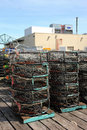 Free Crab Nets Stacked, Port Of Astoria OR. Stock Photos - 19403013