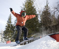 Free Snowboard Jump Royalty Free Stock Photography - 1952357