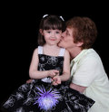 Free Proud Grand-mother Kissing Grand-daughter Royalty Free Stock Images - 19514589