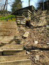 Free Old Ruined Stairway Running Down From The Hill Stock Photo - 19690070