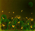 Free Canvas Texture With Flower Field In The Night Stock Photo - 1993200