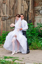 Free Happy Bride And Groom Stock Images - 20921754